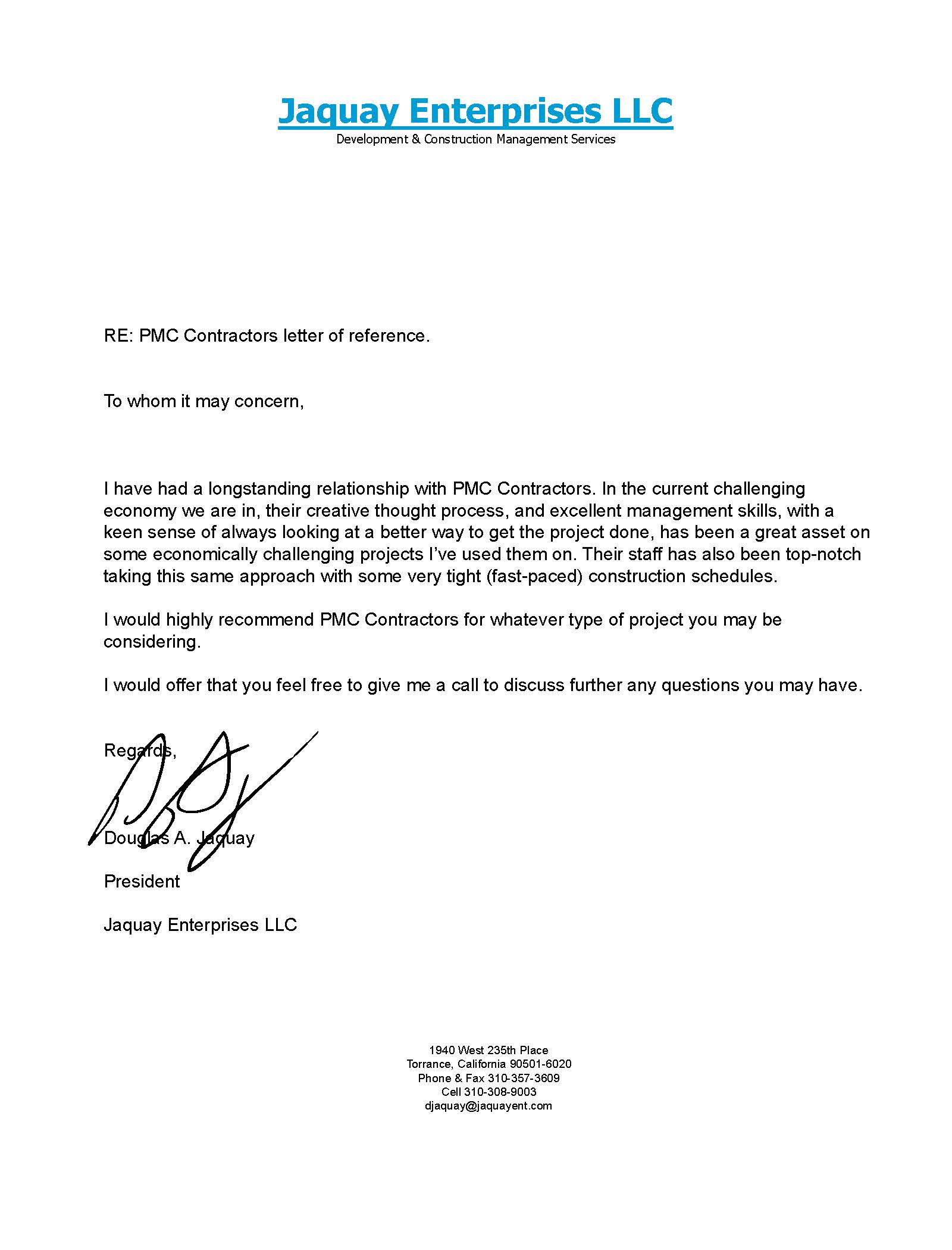 recommendation letter for contractor juve cenitdelacabrera co